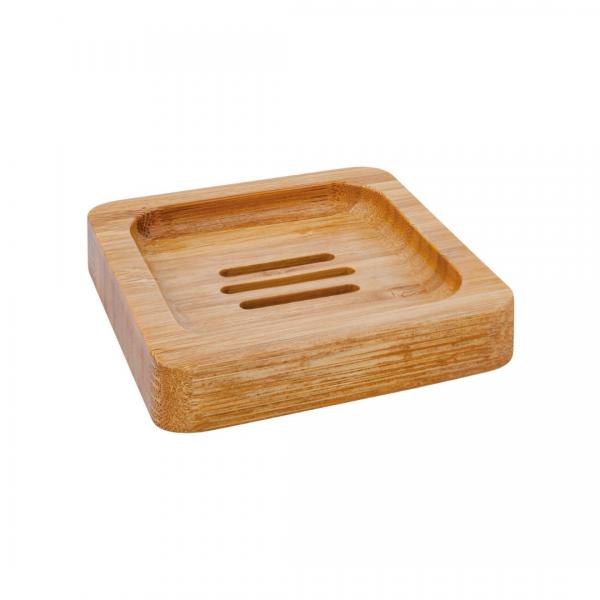 saboneteira quadrada em bambu