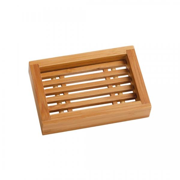 saboneteira rectangular bambu